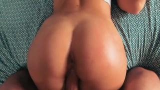 Shy stepsister takes hard cock rough & swallows load - POV