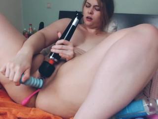 Live Stream Ausschnitt ( Masturbation - Big Black Dildo - Orgasmus ) #1