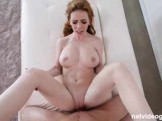 Redhead With Perfect ALL NATURAL TITS Wanted A Creampie Deep Inside Her