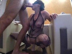 Girl Passionate Play Pussy Big Sex Toy and Blowjob Cock - Homemade