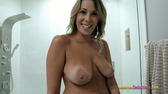 After the Shower Sex with My Step Mom - Nikki Brooks
