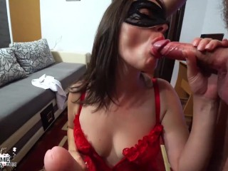 Call Girl Deepthroat and Double Penetration Huge Dildo and Big Cock – Anal Creampie