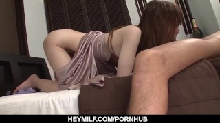 Screen Capture of Video Titled: Hot Yui Hatano deals younger penis in her MILF on JavHD Net