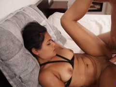 Submissive slut tied up, fucked hard and made to swallow cum |