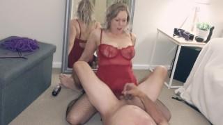 Fierce pegging handjob with cum kiss - MIN MOO
