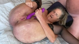 Hot Milf Wife Stretched Wide Pussy Gaping Big Squirting Orgasms