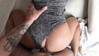 POV morning fuck! He cum inside my pussy and keeps fucking me hard