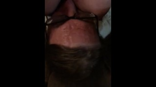 Slapping in the face with my titts- slow motion motorboating