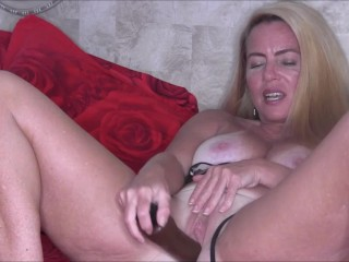Sexy Camo Lingerie Masturbation With Tan, Blonde MILF Nikki