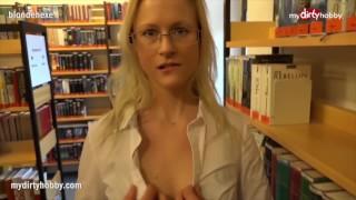 MyDirtyHobby - Bossy teacher fucks student outside of the library POV