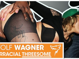 Horny Eva Adams enjoys 2 hard dicks at the same time! WOLF WAGNER
