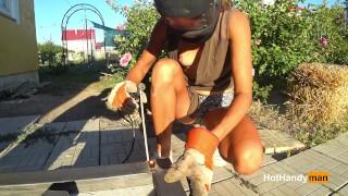 DIY Floating Metal Table part 3 - Welding (MILF NipSlip)