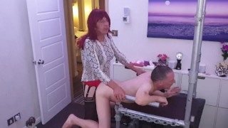 Mike getting fucked hard by sexy TGirl Gigi