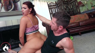 Reluctant Teen Valentina Jewels gets fucked and Facialed by her Trainer Laz Fyre