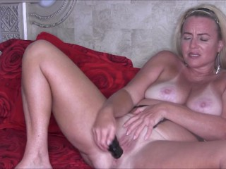 Hot Busty Blonde MILF Nikki In Sexy Lace-Up Camo Lingerie Masturbating For You