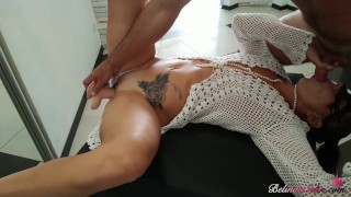 Fucking Dildo on Mirror, Deepthroat Big Cock and Hard Doggy Sex