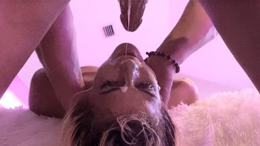 SLOPPY GAGGING DEEPTHROAT | Teen Destruction | Rimming | Cum Dripping Facial | Cum In Throat