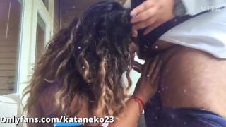 BBW Asian Latina loves to suck cock in public | 0nlyfans Kataneko23