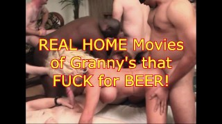 Old WHORES fuck for BEER
