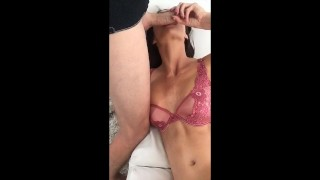 Big tits MILF Silvia Saige getting fucked on the couch - Cumshot