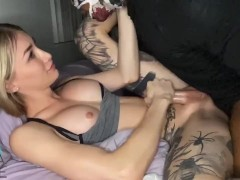 TS Luna fucked by masked BBC