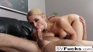 Hot Sarah Vandella gets fucked good & hard on the couch!