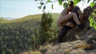 Public Nature Creampie - Amateur Couple BonnieAlex