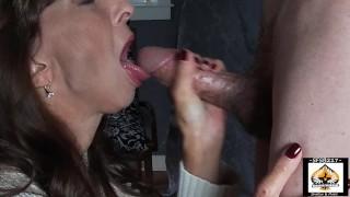 Sexy Granny Closeup Big Cock Sucking
