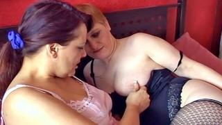 Quick cumming mature British lesbians