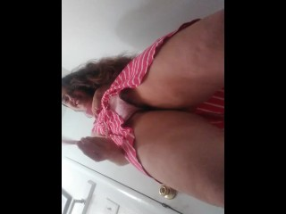Hold my BDSM Collar Leash While I Pee! Pissing Toilet Slutty HAIRY Horny PAWG Camgirl Needs Our Help