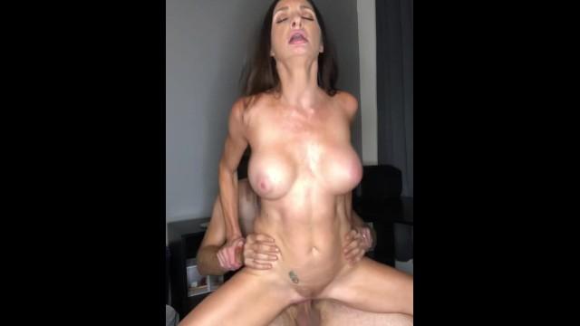 MILF Silvia Saige sucks dick and gets fucked