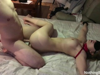 finally fucked my bestfriends sister - tied to bed and creampied
