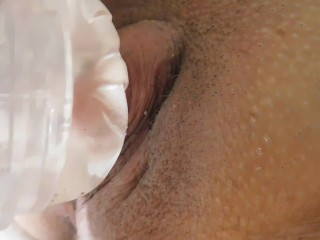 Big Clit Jack Off and Penetration