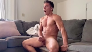 Hunk has INTENSE Orgasm on Only Fans