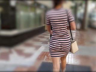 Walking In A Short Tight Dress Around Town