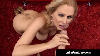 Beautiful Busty Mommy Julia Ann Drains A Lucky Hard Cock!