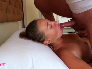Step sister has rough surprise when she wakes up blowjob from her brother and enjoy to suck his dick