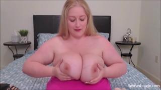 BBW Sensual Bra JOI PREVIEW - Reyna Mae Blonde BBW MILF POV Big Tits Bra Fetish Jerk Off Instruction