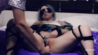 I got shibari-tied, handcuffed and fucked rough from behind. My gym partners cum all over my pussy.