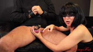 chastity training instructions cock cage sissy slave rubberband snaps ball torture