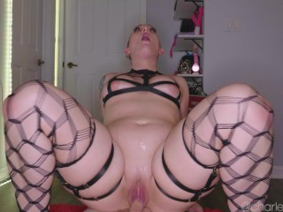 Thicc amateur Pawg in Fishnets Ride, Twerk, and Squirt on Dick