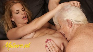 Granny Shows Amateur Teen How To Eat Pussy And Ass