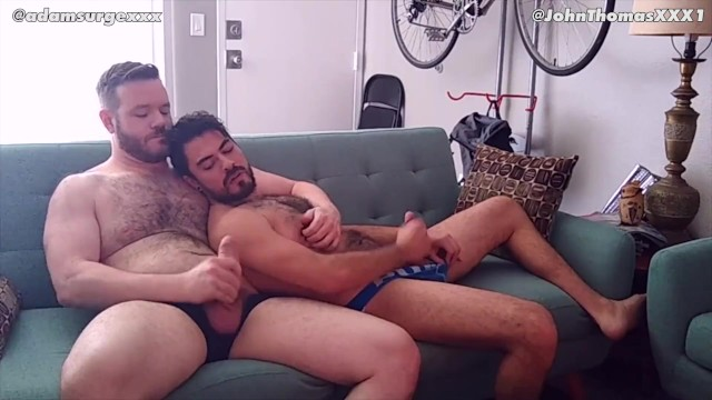 Two bros jerk and suck each other after work