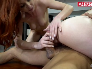 ScamAngels – Bunny Colby And Lacy Lennon Busty American Babes Screw With Their Boss
