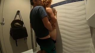 Public Outdoor Hot Tub Play And Bathroom Fuck With Cum Walk