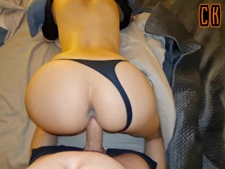 RAW AMATEUR DOGGYSTYLE POV – Big Cock Made Her Tight Pussy Wet And Chatty – CK Road