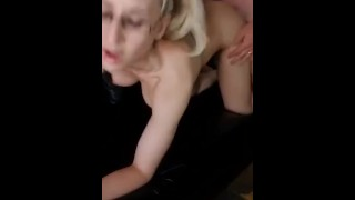 Quick doggystyle with husbands best friend