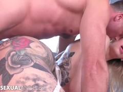 TranssexualAngel - Tattooed Hottie Luna Love Gets Her Big Ass Rammed