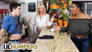 Lil Humpers - Curvy Milfs Dana Dearmond & Layton Benton Sharing Big Cock In a FFM Threesome