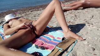 Real amateur wife play her pussy and stranger man touch her